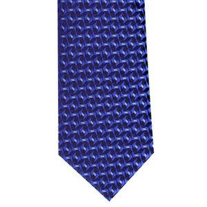 Geometric Royal Blue Woven Tie